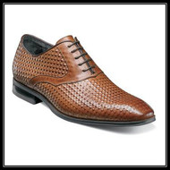 Wherever you are, the Stacy Adams Fidello Plain Toe Oxford is sure to be a crowd-pleaser. The diamond print leather uppers of this dapper lace-up are just the right amount of edgy. Don't be afraid to set yourself apart.Price are exclusive to online sales.  -Plain toe oxford -Diamond print leather uppers with leather linings -Fully cushioned insole with Memory Foam for added comfort -Non-leather sole