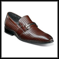 Find your stride in the Stacy Adams Fiero Plain Toe Bit Slip-On. With its diamond print leather uppers, this loafer has a one of a kind look that is hard to top. It pairs easily with dress pants and a button down for an effortless outfit. Price are exclusive to online sales.  Plain toe slip-on Diamond print leather uppers with leather linings Fully cushioned insole with Memory Foam for added comfort Non-leather sole