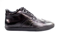 Genuine Alligator and Soft Antique Calf Style #: M25 Features: THIS SHOE FITS ONE SIZE BIGGER Leather Lining Cushion insole Rubber sole Full Sizes Only. Prices are exclusive to online sales.