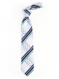 Steven Land W1584 AQUA Gold Woven 3 1/2 inch 100% silk tie and hanky set