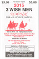 2015 3 Wise Men Associate Numbers Almanac