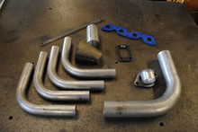 DIY ZETEC S RWD TURBO T3 MANIFOLD KIT INC DOWN PIPE