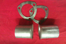 "3"" MILD STEEL EXHAUST COUPLER SET INC FLANGES EXCLUDING OLIVE"