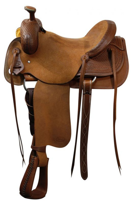 "16"" SH625-16 Showman Roping Saddle / Will James Tree / Roping Warranty"
