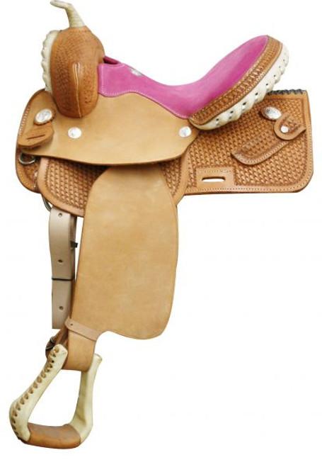 Circle S Square Skirted Barrel Saddle Pink