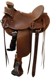 "15""  SH5501-15 Showman roping saddle / Roping Saddle Warranty"