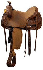 "16"" SH62616  Showman Roping Saddle / Roping Warranty"