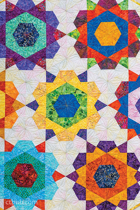 Free Star Flower Quilt Patterns : Spring Has Sprung! Floral Quilts - C&T Publishing