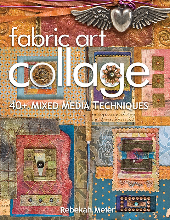Art Book Cover Collage : Fabric art collage mixed media techniques ebook c t