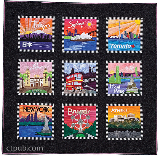 Quilt Blocks Around the World: 50 Applique Patterns for International Cities & More • Mix & Match to Create Lasting Memories by Debra Gabe