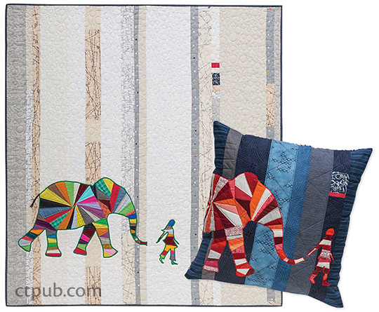 Elephant & I Quilt and Pillow