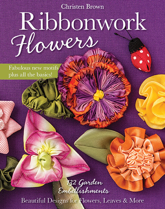 Ribbonwork flowers garden embellishments beautiful