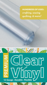 Premium Clear Vinyl Roll: 12-Gauge • Durable • Flexible #premiumclearvinyl