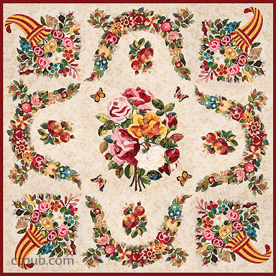 Baltimore Album of Roses: • Elegant Motifs to Mix & Match • Step-by-Step Techniques—Appliqué, Embroidery, Inking, Trapunto by Rita Verroca #BaltimoreAlbumofRoses