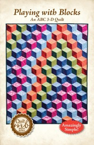 Playing with Blocks, An ABC 3-D Quilt Pattern from Marci Baker