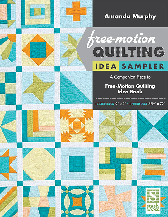 free motion quilting idea sampler epattern 30 traditional blocks complete instructions by amanda murphy