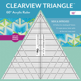 "Clearview Triangle 60 Acrylic Ruler 12"" from Quilt by Marci Baker, designed by Sara Nephew"