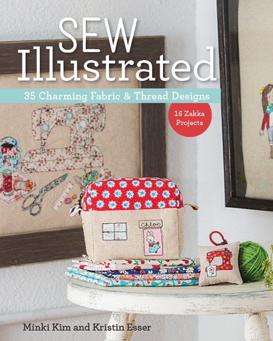 Illustrated Book Cover Ideas : Sew illustrated charming fabric thread designs