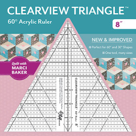 Clearview Triangle 60° Acrylic Ruler 8""