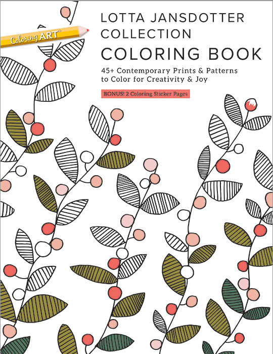 Lotta Jansdotter Collection Coloring Book Image 1