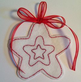 Free Redwork Holiday Star Project for Children of All Ages!