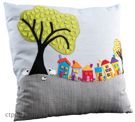 Wee Village Town Pillow Free Project