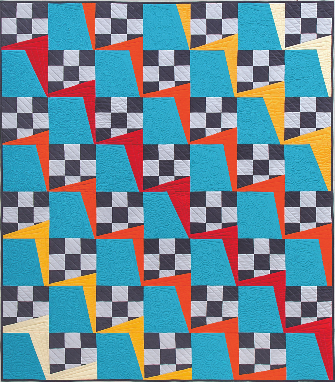 Diverse projects inspired by easy-to-piece nine-patches from the dynamic team of popular pattern designer Jenifer Dick and expert quilter Angela Walters.
