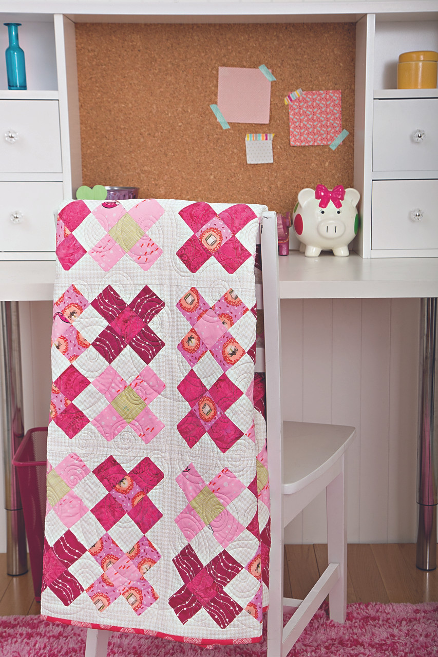 Improve your quilt designs by learning how to organize fabric by size and color, while making adorably sophisticated quilts (both pieced and appliquéd) for babies and children.