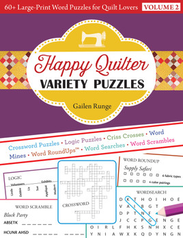 Happy Quilter Variety Puzzles—Volume 2