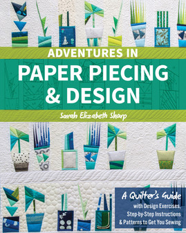 Sew (and design!) graphic paper-pieced patterns! Learn about every stage of the process with piecing basics, a guide to pattern design, and choose-your- own-adventure design prompts to create your own FPP patterns. With an annotated overview of the best FPP methods, countless tips, and over thirty paper-pieced quilt blocks plus seven design exercises to put your skills to the test, you'll have the tools you need to thrive when confronted with any paper-piecing challenge!