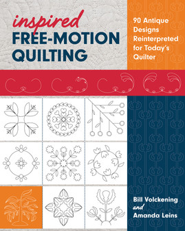 Borrow from history for your next quilt with ninety free-motion quilting designs reinterpreted from eighteenth- and nineteenth-century quilts. Honor the elegance of the past with collector Bill Volckening and quilter Mandy Leins, who modernizes motifs such as the orange peel, feathers, and quatrefoil into continuous-lines designs that are perfect for all of today's quilts. Plus, learn tips for marking, combining motifs, and quilting.