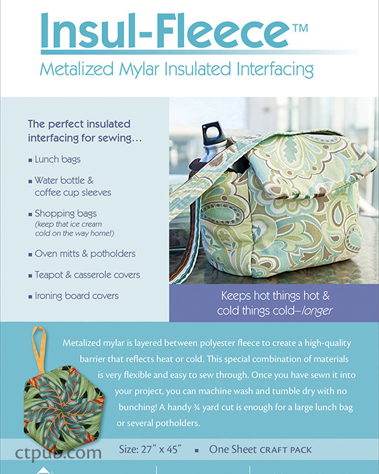 Insul-Fleece Pack: Metalized Mylar Insulated Interfacing