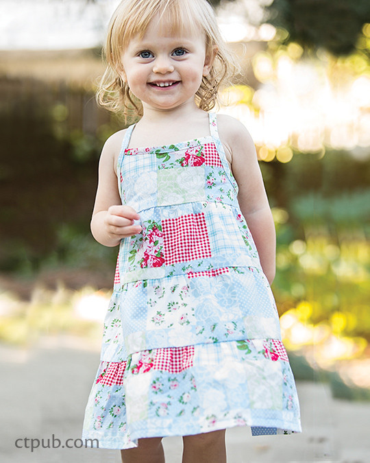 Heidi dress from Boutique Casual for Boys & Girls by Sue Kim Make, Mix, and Match: 20 stylish projects for your children's wardrobe  #ctpublishing #stashbooks #suekim #kidsewing #kcw #kidsclothes #dress #heididress