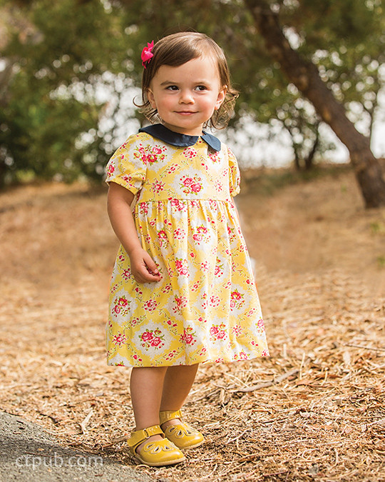 Charlotte dress from Boutique Casual for Boys & Girls by Sue Kim Make, Mix, and Match: 20 stylish projects for your children's wardrobe  #ctpublishing #stashbooks #suekim #kidsewing #kcw #kidsclothes #dress #charlottedress