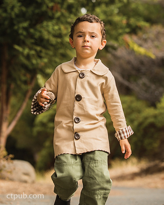 Basic Jacket from Boutique Casual for Boys & Girls by Sue Kim Make, Mix, and Match: 20 stylish projects for your children's wardrobe  #ctpublishing #stashbooks #suekim #kidsewing #kcw #kidsclothes #jacket #basicjacket