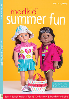 "MODKID Summer Fun: Sew 7 Stylish Projects for 18"" Dolls • Mix & Match Wardrobe by Patty Young #modkidsummerfun"