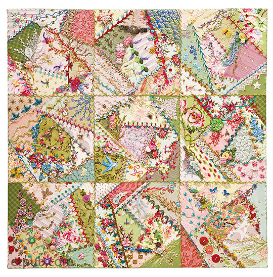 Foolproof crazy quilting visual guide stitch maps