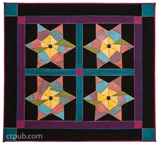 Quilting…Just a Little Bit Crazy: A Marriage of Traditional & Crazy Quilting by Allie Aller and Valerie Bothell #QuiltingJustaLittleBitCrazy