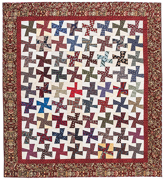 Project from Necktie Quilts Reinvented: 16 Beautifully Traditional Projects • Rotary Cutting Techniques by Christine Copenhaver #NecktieQuilts