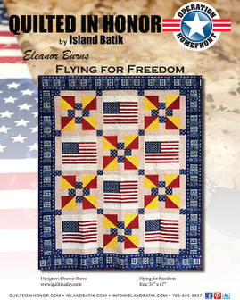 Eleanor Burns' Flying for Freedom Quilted in Honor Benefit ePattern