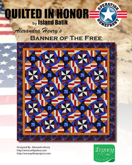 Alexandra Henry's Banner of the Free Quilted in Honor Benefit ePattern