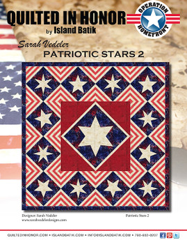 Sarah Vedeler's Patriotic Stars 2 Quilted in Honor Benefit ePattern