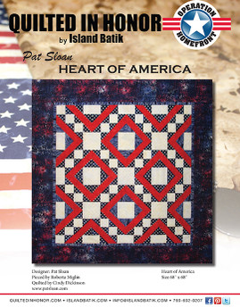 Pat Sloan's Heart of America Quilted in Honor Benefit ePattern