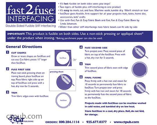 fast2fuse Interfacing instructional wrap