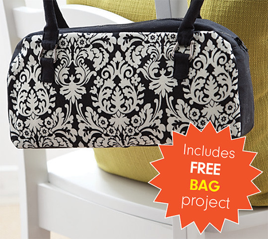 fast2fuse LIGHT Interfacing Pack includes this cute free bag project
