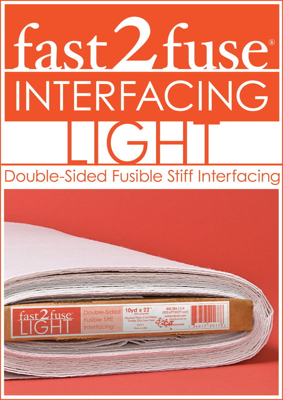 "fast2fuse LIGHT Interfacing Bolt, 20"" x 10 yards: Double-Sided Fusible Interfacing"