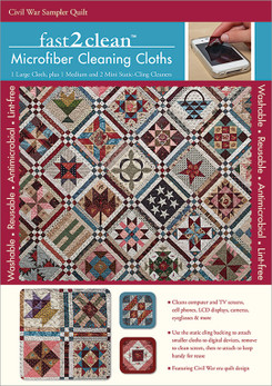 fast2clean Civil War Sampler Quilt Microfiber Cleaning Cloths #fast2clean