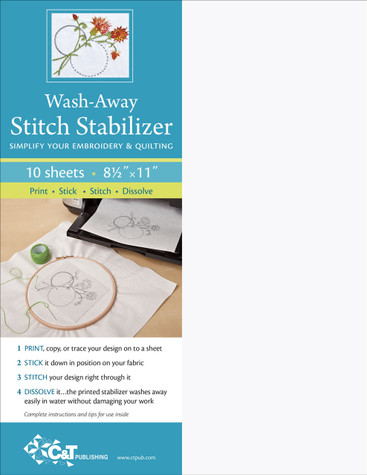 Wash-Away Stitch Stabilizer: Simplify Your Embroidery & Quilting