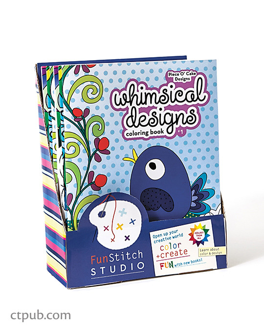 Whimsical Designs Coloring Book 18 Fun See How Colors Play Together Creative Ideas