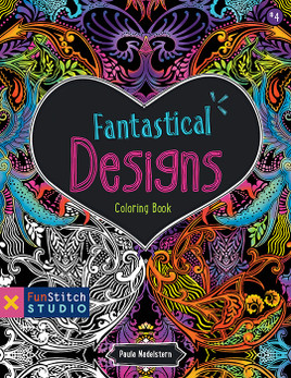 Fantastical Designs Coloring Book: 18 Fun Designs + See How Colors Play Together + Creative Ideas designs by Paula Nadelstern #FantasticalDesigns